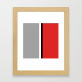 Two color and black&white. Gray and red Framed Art Print