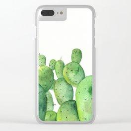 Cactus Field Clear iPhone Case