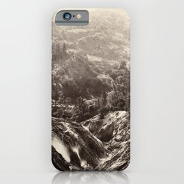 Devil's Canyon, geysers, looking down iPhone Case