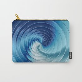 Metallic Blue Disks Carry-All Pouch