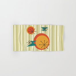 Retro Stripes & Shapes Hand & Bath Towel