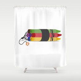 Crayonite Shower Curtain