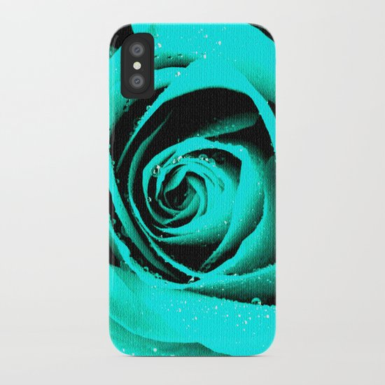 CYAN ROSE - For IPhone - iPhone Case