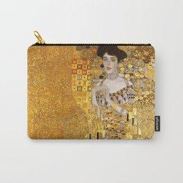Gustav Klimt - Portrait d'Adele Bloch-Bauer I 1907 (new color rendition) Carry-All Pouch