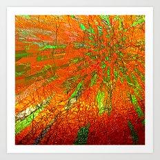 Metallic sun Art Print