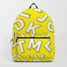 Vector Illustration White Yellow Pattern Children Learning Backpack
