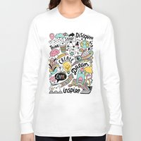 notebook Long Sleeve T-shirts featuring Everyday by Anna Alekseeva kostolom3000