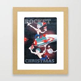 Rocket Christmas Framed Art Print