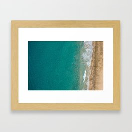 Kayaker on NaPali Coast Framed Art Print
