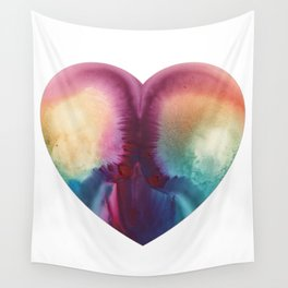 Rew's Rear Monotype Heart Wall Tapestry