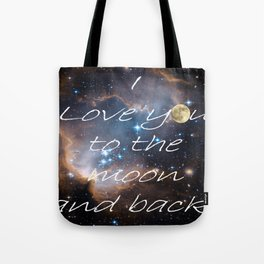 Contemporary I Love You to the Moon Stars Bedroom Decor Art A521 Tote Bag
