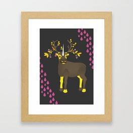 Reindeer Unicorn Framed Art Print