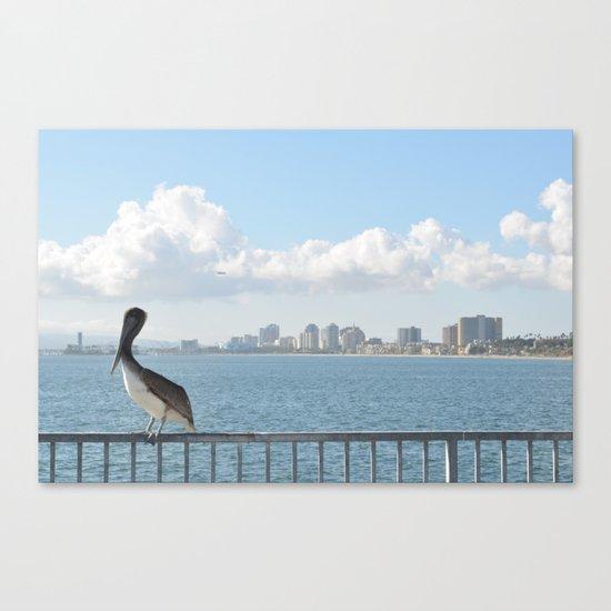 Seaside City Harmony Canvas Print