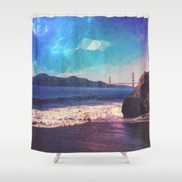 Polygon Sky GGB Shower Curtain