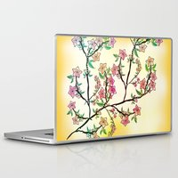 cherry blossoms Laptop & iPad Skins featuring Cherry Blossoms by famenxt