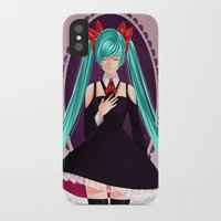 vocaloid iPhone & iPod Cases featuring Miku's Serenity by ShidaTheOrient