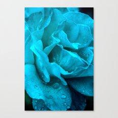 Blue Drops Canvas Print