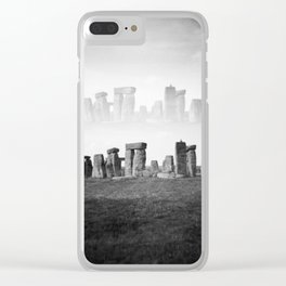 """""""Dreaming of Stonehenge"""" Double exposure on film Clear iPhone Case"""