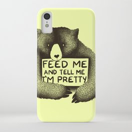Feed Me And Tell Me I'm Pretty (Yellow) iPhone Case