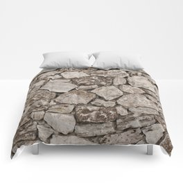 Old Rustic Stone Wall Comforters