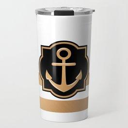 Golden Anchor Travel Mug