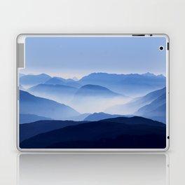 Blue Corno Nero mountain silhouettes in Italy Laptop & iPad Skin
