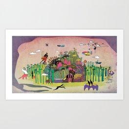 L'échapée des forets Art Print