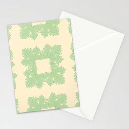 Grapevine Leaf Squares Pattern Stationery Cards
