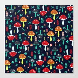 Multicolored mushrooms Canvas Print