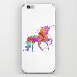Watercolor Unicorn iPhone Skin