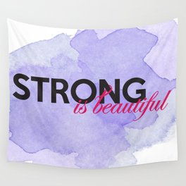 Strong is beautiful: breast cancer strong Wall Tapestry
