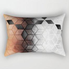 Ombre Concrete Cubes Rectangular Pillow
