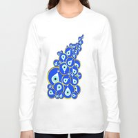 evil eye Long Sleeve T-shirts featuring Evil eye by Suburban Bird Designs