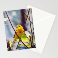 Sweet Yellow Warbler Stationery Cards