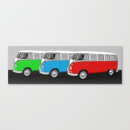 Bulli T1 parade Canvas Print