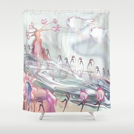 Portrait Landscaped  Shower Curtain