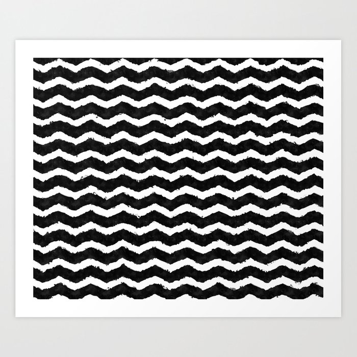 Zigzag like a boss black and white zigzag trendy pattern society6 art