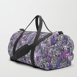 Ultraviolet Gemstone Cats Duffle Bag