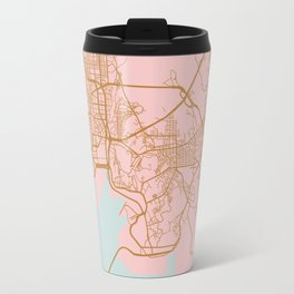 Busan map, South Korea Travel Mug