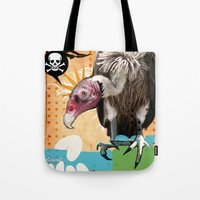 woodstock Tote Bags featuring COLLAGE: Woodstock Funeral by Diavu'
