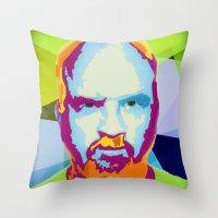 louis ck Throw Pillows featuring Louis CK by Danielle DePalma