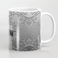 Black and white lace pattern Mug