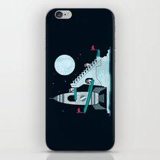 Penguin Space Race iPhone Skin
