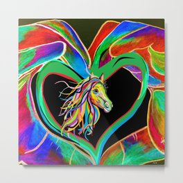 I HEART my HORSE! Metal Print