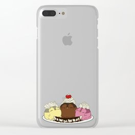 Penguinscoops - Banana Split Clear iPhone Case