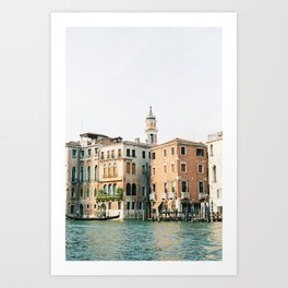 Travel photography | Architecture of Venice | Pastel colored buildings and the canals | Italy Art Print