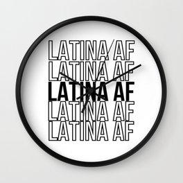 Latina Af Wall Clock
