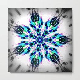 Frozen Snowflake Metal Print