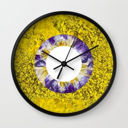 Floral Blooms I Wall Clock
