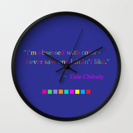 Obsessed with color Wall Clock